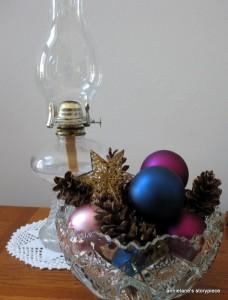 Bowl of Christmas balls