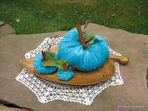 pumpkins in turquoise